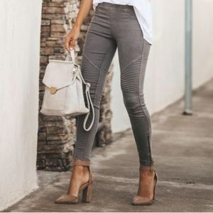 VICI Collection Piper jeggings in gray